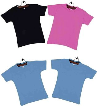 Multicolor Pack of 4 Cotton Boys T-Shirts