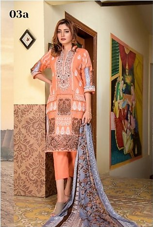 Mysoori - KHADDI Embroidered Lawn Dress with Embroidered Lawn Dupatta - 3a