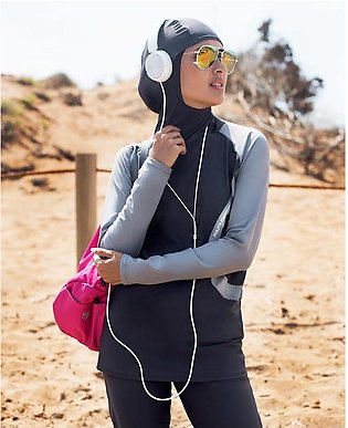 Monochrome Active Burkini - Islamic Swim Suit for Her