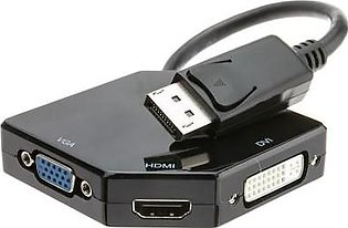 Branded DisplayPort to HDMI VGA or DVI 3-IN-1 Adapter