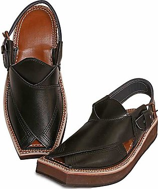 MEN'S BLACK KAPTAAN CHAPPAL
