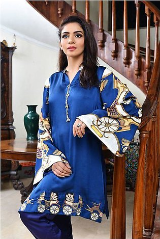 Royal Chariot Digital Silk 2Pcs Dress for Her