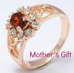 Classy Red Stone Ladies Ring