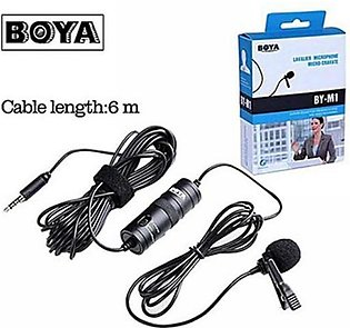 Boya Mic M1 Lavalier Collar Microphone for Canon Nikon DSLR Camcorder and Pho...