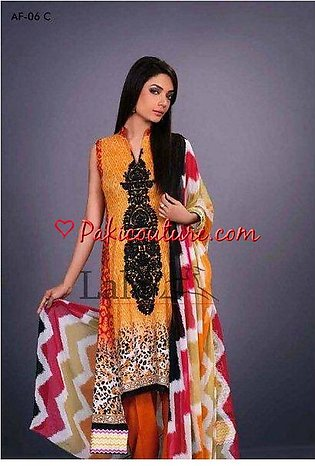 AFREEN LAWN 2015 4PCS SUIT BY LALA