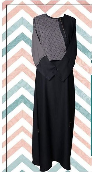 Classic Collection Black and Grey Abaya
