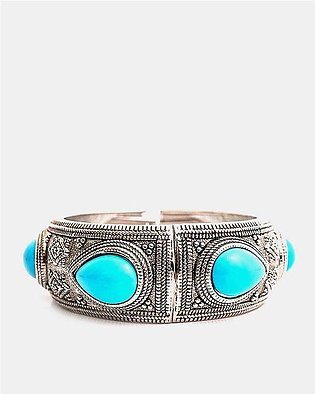 Silver Plated Traditional Coloured Bangle
