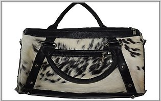 Cowhide Hair On Fur Woman Shoulder Hand Bag Cow Skin