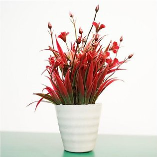 Light Red Tree Artificial Plant For Decoration
