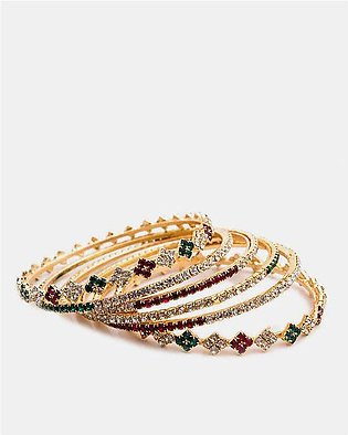 Gold Plated Zircon Bangles for Woman