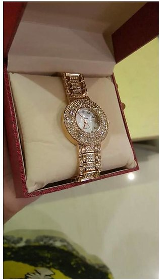 Gold Crystal watch for Women