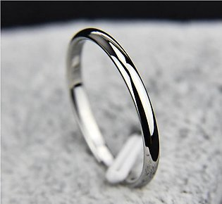 Silver Plated Platinum Ring for Men