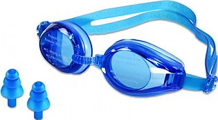 SWIMMING GOGGLES WITH EAR PLUGS - BLUE