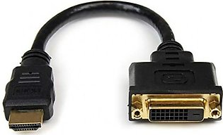 Branded HDMI Male to DVI Female Adapter - 8in - DVI-D Cable