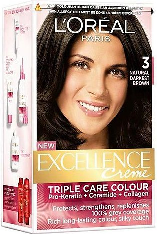 loreal excellence hair color#3