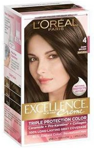 loreal excellence hair color#4