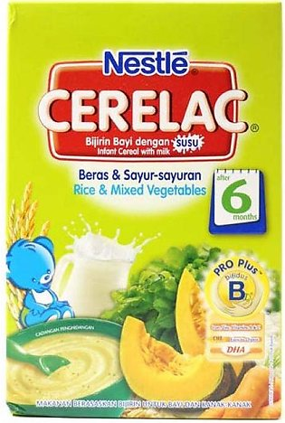Nestle Cerelac Cereal Rice and Mixed Vegetables 250g