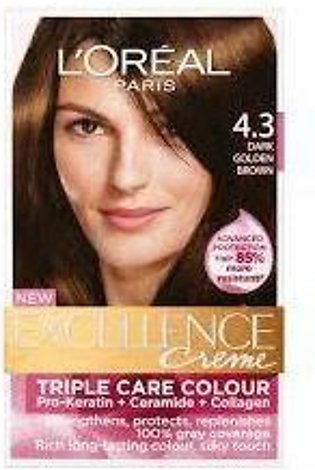 loreal excellence hair color#4.3
