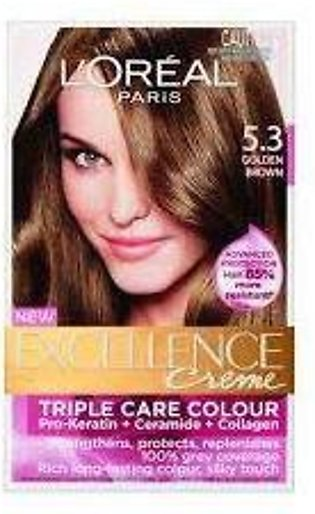 loreal excellence hair color#5.3