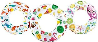 Intex - Lively Print Swimming Pool Tube Ring - 20 inch - 59230