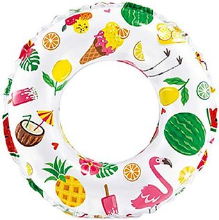 Intex - Lively Print Swimming Pool Tube Ring - 24 inch - 59241