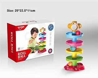 Huanger - Baby Roll Ball Stacking Tower Ramp Puzzle for Toddlers