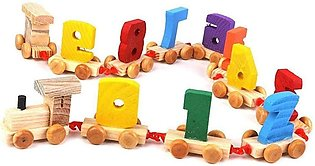 Wooden Digital Numbers Educational Train Toy Set For Kids