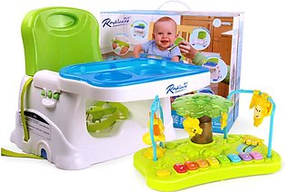 Baby Booster Seat with Dining & Activity Tray - 2 in 1