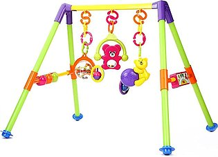 Blue Baby Rattle Fitness Frame Activity Play Gym