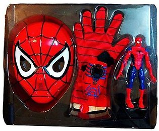 Spiderman Mask & Action Glove Play Set