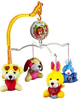 Musical Cot Mobile With Stuff Toys