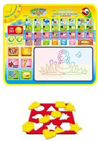 Aquadoodle English Learning Musical Mat with Sounds & Spellings - 2.5 ft