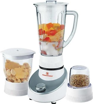 West Point Blender and Grinder 3 in 1 White WF-303