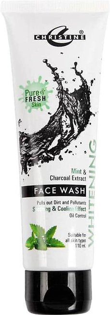 Christine Whitening Clay Mask Tube (Active Charcoal)
