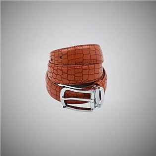 Brown Boxes Leather Belt