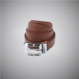 Brown Steel Leather Belt