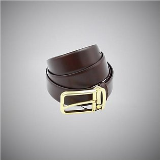 Brown Gold Leather Belt
