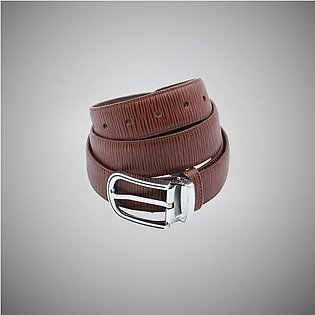 Brown Line Leather Belt