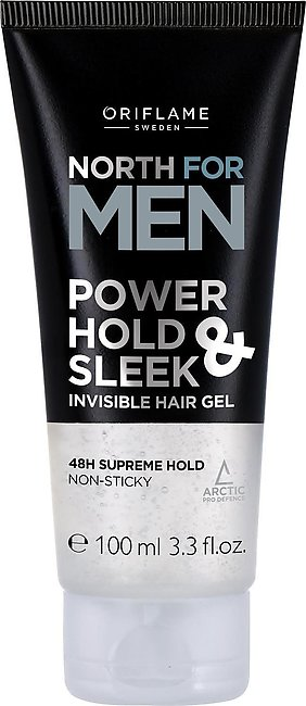 Oriflame-North For Men Power Hold & Sleek Invisible Hair Gel, 100ml