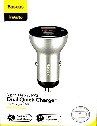 Baseus Dual Quick Charger Car Charger 45W