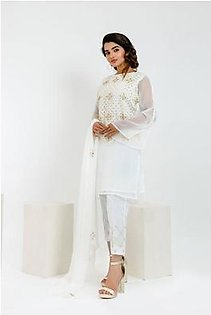 2-Piece | Chiffon Embroided Suit