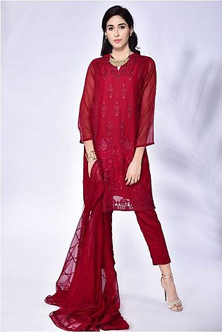 3-Piece | Chiffon Embroided suit
