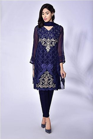 3 - piece Chiffon embroidered suit