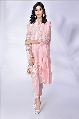 3-Piece | Chiffon Embroidered suit