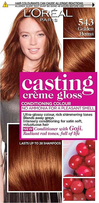 Loreal Casting Hair Color Golden Henna # 543