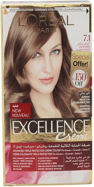 Loreal Hair Color Excellence 7.1 Ash Blonde