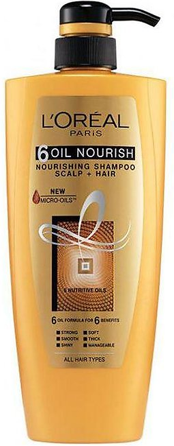Loreal Shampoo 640ml (6) Oil Nourish Nourishing