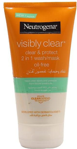 Neutrogena Face wash Visibly Clear 2in1 150ml