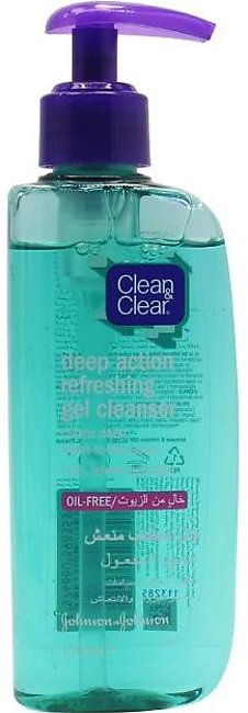 Clean & Clear Face Wash Deep Action Oil Free 150ml