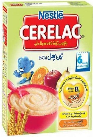 Nestle Cerelac Cereal 3 Fruits 175g